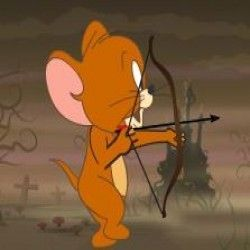 Tom e Jerry arco e flecha