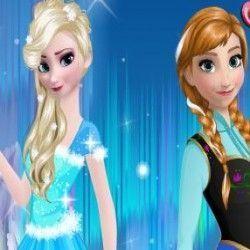 Esse é um jogo bem legal e super divertido para você que gosta de moda. Faça agora muitas combinações e deixe as irmãs Frozen Elsa e Anna bem elegantes e bonitas. Não esqueça dos acessórios....