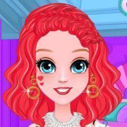 Escolha uma das opções de penteados e deixe a princesa sereia muito bonita. Depois escolha uma blusa legal e arrase no visual da nossa pequena.