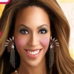 Beyonce maquiagem e acessórios