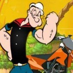 Vamos viver uma divertida aventura na moto do Popeye? Sua missão agora é controlar sua moto ao longo do caminho e chegar até sua amada Olívia. Durante o trajeto não esqueça de pegar espinafre....