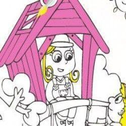 Vamos colorir a imagem da menina na casinha agora? Você terá muitas opções sensacionais para escolher e deixar o desenho bem bonito. Capriche!