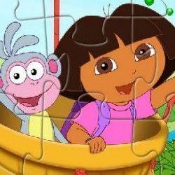 Dora e Botas quebra cabeça