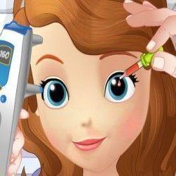 Vamos cuidar da linda Princesa Sofia? Ela está com problemas nas vistas e precisa ser atendida por uma médica com muita experiência e competência. Ajude a princesa Sofia realizando sua consulta....