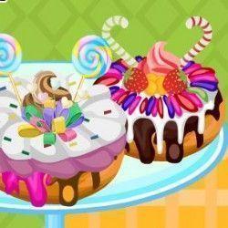 Donuts decorados com doces