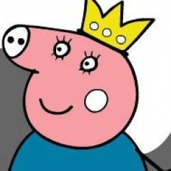 Peppa Pig, a protagonista · desenho de George e o dinossauro de brinquedo  para colorir