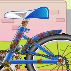 Esse garoto depois de brincar de bicicleta precisa da sus ajuda para lava-la. A bike está toda suja e precisa que você deixe a bike bem limpa e brilhando. vamos jogar?