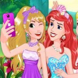 Princesas da Disney selfie