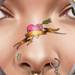 tatuagem e piercing no nariz