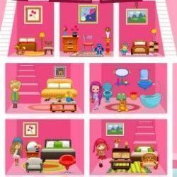 Barbie bebê decorar casa