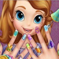 Princesa Sofia fazer unhas