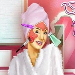 Nossa amiga Violetta precisa agora da sua ajuda para poder ficar linda e maravilhosa depois de passar o dia no spa. Aqui agora você vai poder aplicar os cremes para deixar o rosto da Violetta se...