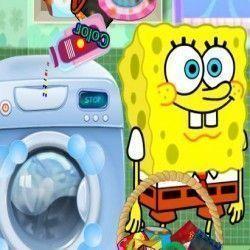 Bob Esponja lavar roupas