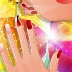 Manicure decoração tropical