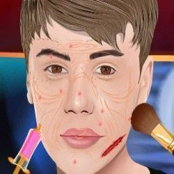 Justin Bieber no spa