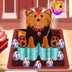 Vamos começar fazer um bolo bem gostoso? Depois de caprichar em cada etapa do modo de preparo você terá que fazer uma super decoração do bolo de cachorro. Vamos jogar?