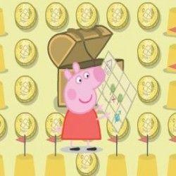 Esse é um sensacional jogo para você poder ajudar a Peppa Pig a caçar tesouros. Nossa porquinha precisa de ajuda para poder recolher todas as moedas, pegar os brinquedos e  fugir dos bichos.