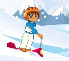 Aventuras do Diego esquiar