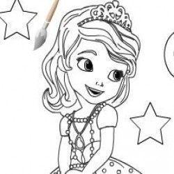 Pintar Princesa Sofia Jogos Para Meninas