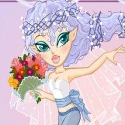 Vamos brincar com a fada noiva agora? Seu objetivo é vestir lindas roupas para que essa garotinha fique bem bonita e muita elegante. Use a criatividade e charme para deixar a fada fashion no cas...