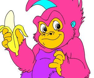 Colorir Macaco Jogos Para Meninas
