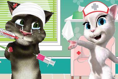 Cuidar do gato virtual no hospital
