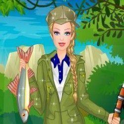 Esse é um jogo de moda para você deixar a Barbie linda e fashion para poder pescar. São muitas opções para você fazer a combinação que desejar. Vamos jogar agora?