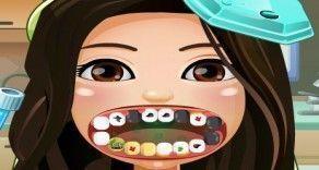 Nesse jogo online você vai precisar mostrar sua habilidade como dentista e cuidar dos dentes estragados da menina. Ela precisa ficar com os dentes brancos e brilhantes. Vamos jogar?