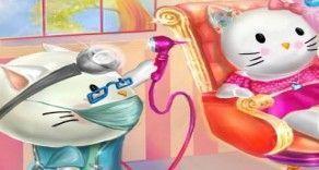 Um jogo para você brincar de cuidar da nossa querida Hello kitty que está no médico. Aqui agora você vai poder fazer todo o tratamento para que o ouvido da nossa gatinha fique bem. Com atenção d...
