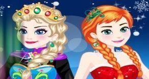 Esse é um jogo para você poder vestir as princesas Anna e Elsa Frozen. Aqui agora você vai poder se divertir escolhendo o look de cada uma dessas princesas do filme Frozen. Use o bom gosto para ...