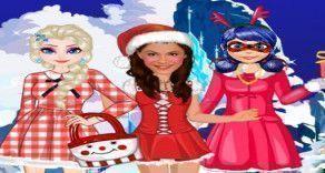 Você como frande estilista, deverá vestir algumas personagens da Disney para a festa de natal. Use o bom gosto e capriche nos detalhes para que cada visual seja exclusivo e muito especial.