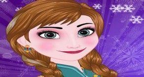 Vamos brincar com a princesa Anna agora e fazer uma maquiagem bem bonita nessa menina Frozen? Use todo seu talento para poder deixar essa garotinha bem bonita e muito fashion.