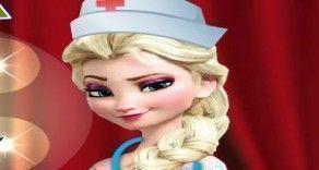 A querida Elsa Frozen está no seu primeiro dia de trabalho de enfermeira. Sua missão é fazer com que a Frozen Elsa possa exercer sua função com muita habilidade realizando todos os cuidados com ...