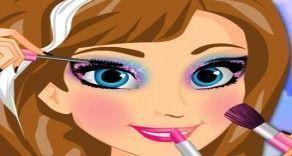 Vamos brincar com a Anna Frozen agora e fazer uma maquiagem bem legal e bonita para ela se divertir com a irmã em um belo passeio? Você vai usar a sua criatividade e deixar a Anna muito lindo.