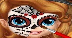 A Princesa Sofia quer ficar linda para a festa de Halloween e conta com sua ajuda para poder caprichar na pintura da máscara e arrasar com o visual. Com muita habilidade deixe a Sofia linda e fa...