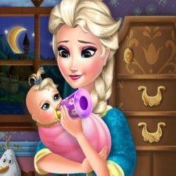 Um super joguinho online para você brincar com a Elsa de ser babá. Ela ainda não tem muita habilidade e por isso conta com sua ajuda para poder trocar as fraldas da bebê, dá mamadeira amor e car...