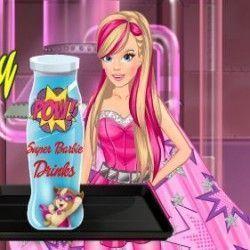 Super Barbie fazer bebidas