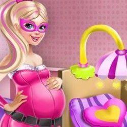 Grávida Super Barbie decorar quarto