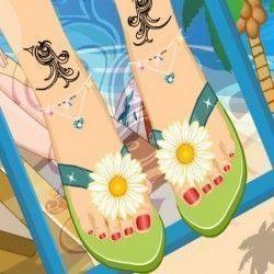 Um super jogo para você mostrar seu bom gosto e fazer a decoração de uma nova sandália da moda para o verão. Você agora terá que criar o modelo para ser lançamento. Com muito bom gosto escolha o...