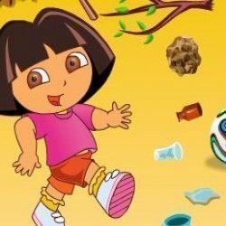 Dora limpar quintal