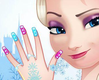 Fazer unhas da Elsa