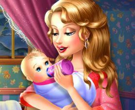 Mamãe cuidar do bebê