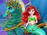 Cavalo marinho e Ariel cuidar