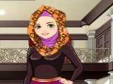 Garota árabe no salão