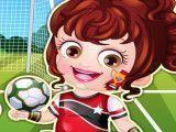 Bebê Hazel jogadora de futebol