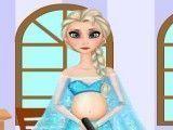 Elsa grávida limpeza do quarto
