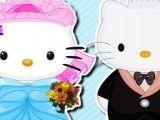 Hello Kitty roupas de noiva