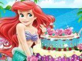 Pequena Sereia decorar bolo