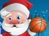 Papai Noel jogar basquete