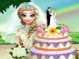 Fazer bolo da noiva Elsa
